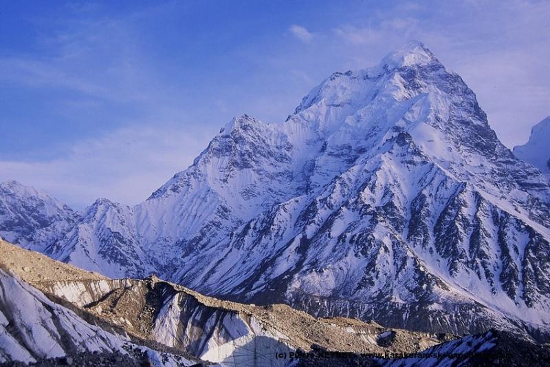 Sur le Kunyang Chhish glacier