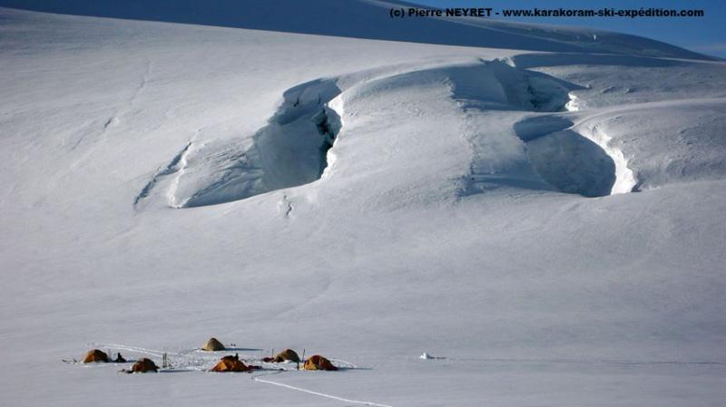 Camp au Lupke la 5540 m