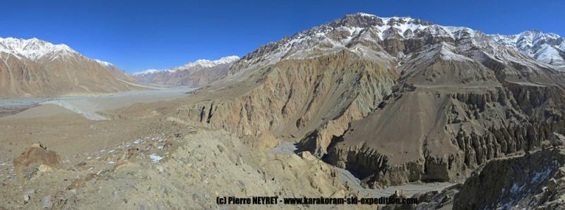 Le canyon de la vallée nord du K2