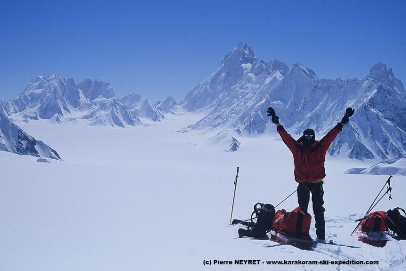 Col d Hispar, Sim Gang glacier et Baintha Brakk
