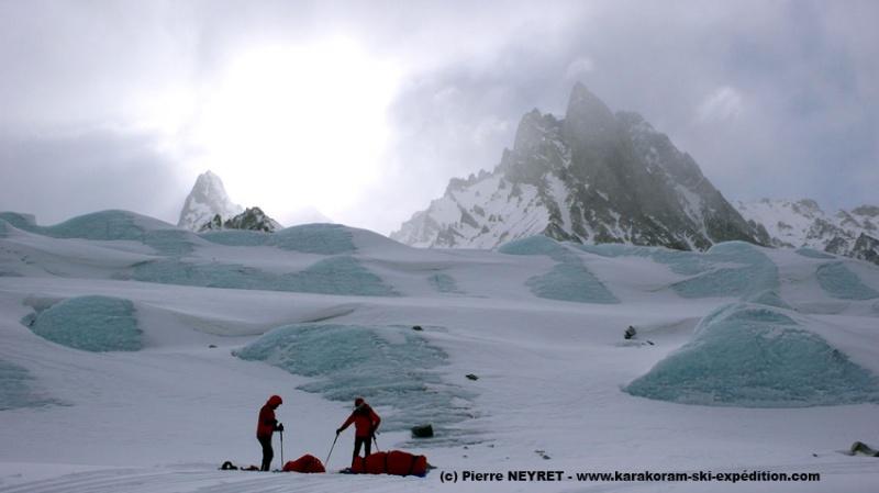 Sur le glacier de Braldu