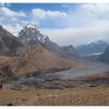 La plaine de Shaksgam depuis l Urdok Gasherbrum saddle