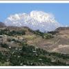 Le Tirich Mir surplombe les oasis de la vallee de Chitral