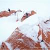36 heures de tempete au camp sur le plateau de Darkot, 4440 m