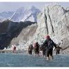 Eau glaciale devant le front du glacier du Gasherbrum