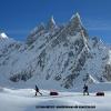 Deuxieme jour de skis, juste sous Concordia