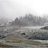 Le glacier du Koyo Zom descend jusque dans la vallee