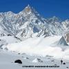 Deuxieme jour de skis, devant le Masherbrum 7821m