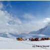 Premier soleil le 1er mai, au premier col, 4672 m, au dessus du plateau de Darkot