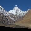 K2 depuis le front du glacier des Gasherbrum