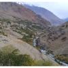 Oasis de la vallee de Ghizar qui coule vers Gilgit