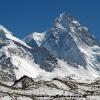 Le K2 face nord, depuis le glacier nord