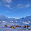Camp 9 sur Chiantar, face au glacier de Garmush