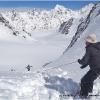Descente du Garmush pass, 5200 m, avec 100m de corde