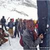 Les porteurs nous laissent a 3900 m sur le glacier de Darkot