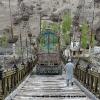 Pont sur l Indus avant Skardu