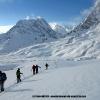 Montée au col d Hispar, devant le Kanjut Sar 7760 m