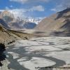 Le front du glacier du Baltoro