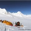 Camp 7, 4850 m, sur la branche orientale du Chikzar glacier