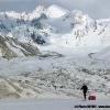 Devant le glacier de Chiring