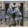 Art du Gandhara / bas relief sur serpentine / Musee de SWAT