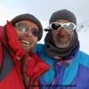 Jahangeer et Pierre au col d Hispar, contents