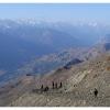 A l aplomb du profond sillon de la vallee de Chitral
