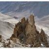 Aiguilles de granit a l aplomb du col d Aghil