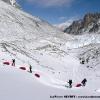 Zig zag sur le glacier de Braldu