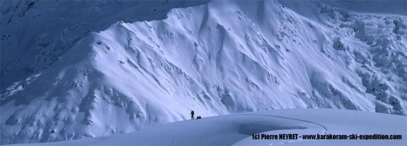 Sur le glacier d