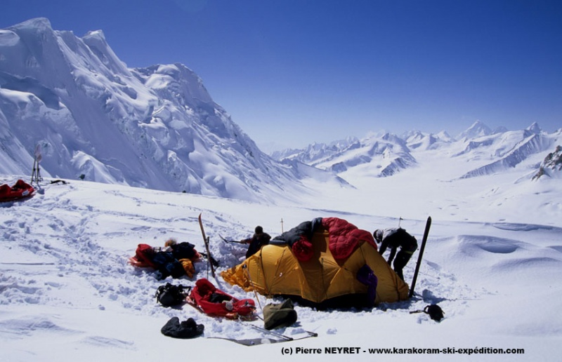 Camp au Skam la (5660 m)