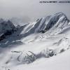 Depuis un sommet central de Snow Lake, au dessus du Sim Gang glacier