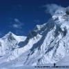 Glacier d Hispar, sous Lobster Peak