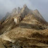 Premières vues sur le Paiju peak