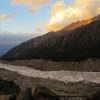 Glacier de Raïkot au couchant