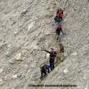 Sur les moraines du glacier d Hispar