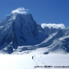 Sur le Sim Gang glacier, devant le Skam Brakk