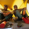 Jahangeer et Pierre au camp