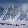 Camp face au sanctuaire nord du Baintha Brakk