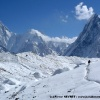 Grandeur et solitude vers Concordia. Gasherbrum IV et Mitre peak en toile de fond