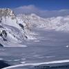 Le glacier de Nobande Sobande vu du Skam la