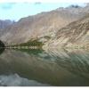Le Khalti lake sur la riviere Ghizar qui coule vers Gilgit