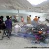 Notre matériel sur le débarcadère du lac de Attabad