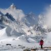 Devant les icebergs et le Masherbrum